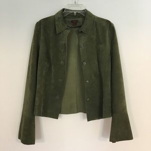 Danier Olive Green Suede Jacket